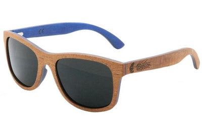 Sapele & Skateboard Wood Sunglasses with Polarized Lenses