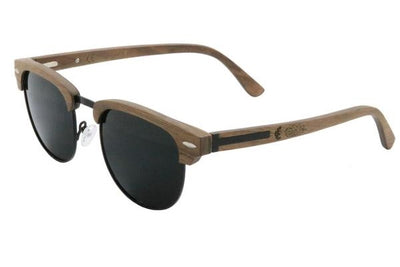 Titanium & Black Walnut Wood Sunglasses with Polarized Lenses