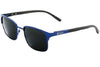 Blue Light Titanium & Ebony Wood Sunglasses with Polarized Lenses