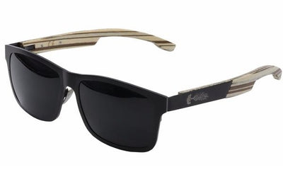 Whitecap Titanium & White Zebrawood Sunglasses with Polarized Lenses