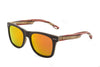 Maplewood Sunglasses with Red/Orange Polarized Lenses