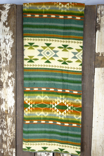 Noninventory - AZTEC Double Blanket - Green Martini