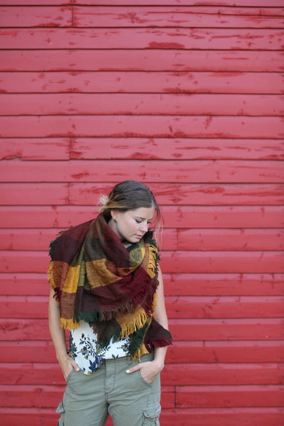 Noninventory - Blanket Scarf - Fall At Heart