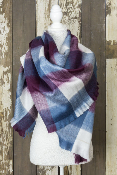 Noninventory - Blanket Scarf - Lilac Blue