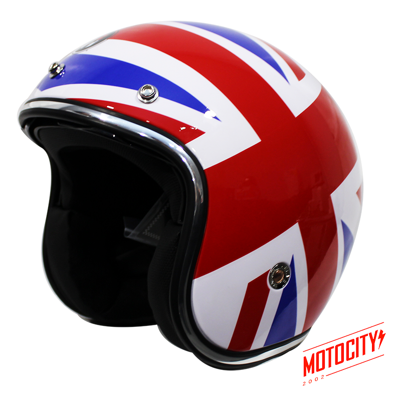 Casco Abierto Immortale Flag Chopper