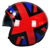 Casco Abierto Immortale Flag Negro Chopper