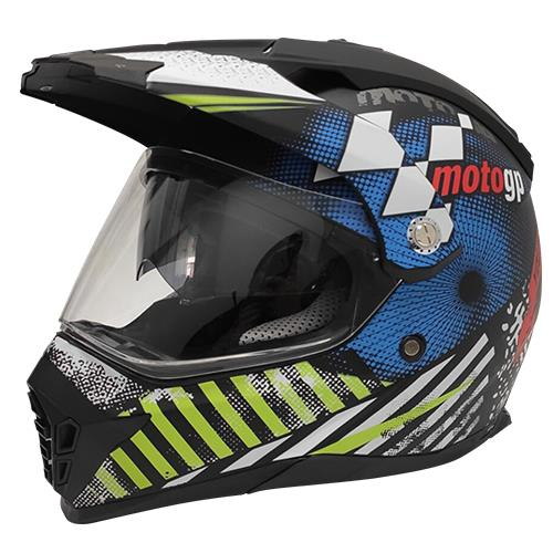 Casco R7 MD-901 Cross City Mate Azul