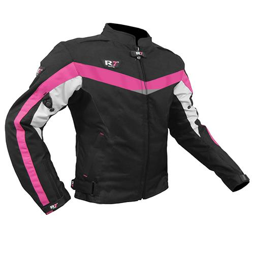 Chamarra R7 Racing R7-409 Mujer Rosa