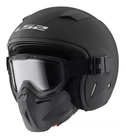 Casco LS2 OF539 Brutus Negro Mate