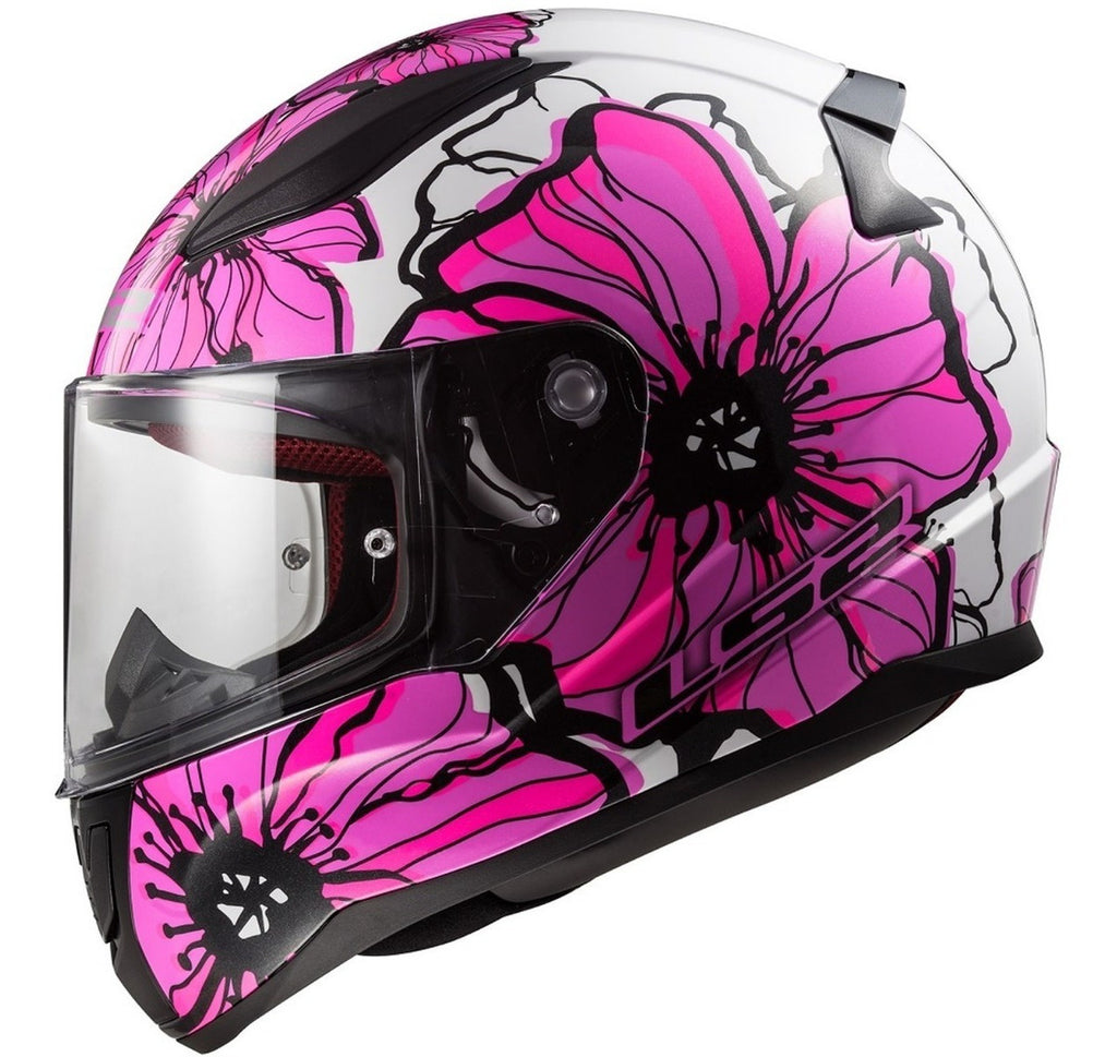 Casco Ls2 FF353 Rapid Poppies Mujer