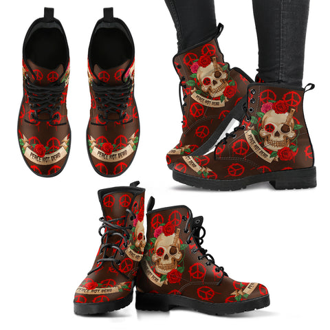 Skull & Peace V1 Handcrafted Boots