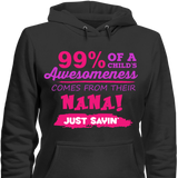 99% Of A Childs Awesomeness Come From Their Nana Just Sayin - Discount Store Pro - 2