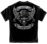 First In Last Out Firefighter Tee