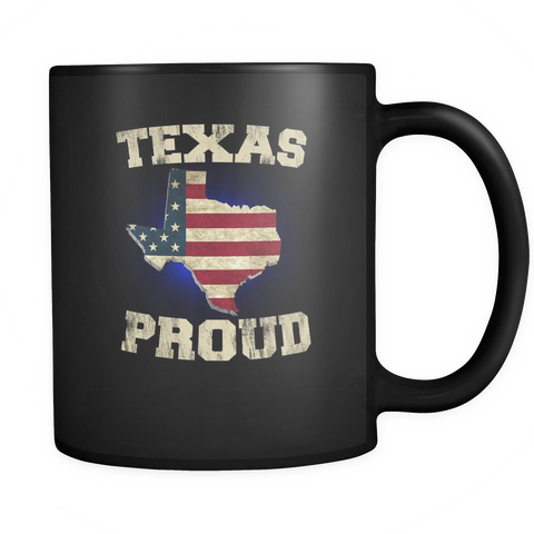 Texas Proud Black Mug