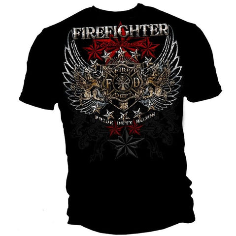 Firefighter Pride-Duty-Honor Tee