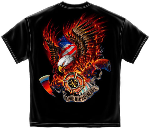 Firefighter Patriotic Eagle Tee