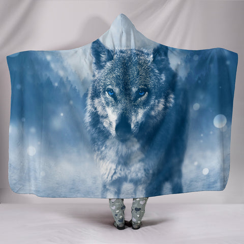 Wolf Hooded Blanket