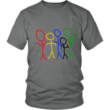 Rainbow People Men's Tee