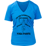 Yoga & Wine V-Neck Tee