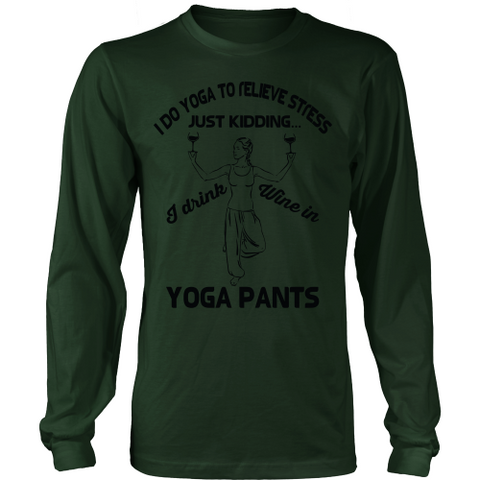 Yoga & Wine Long Sleeve Tee