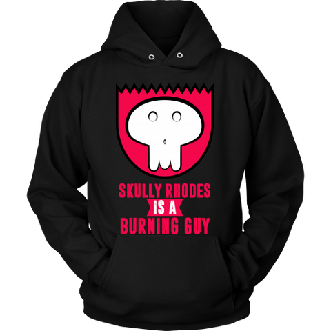 Designs By Clayton - Burning Guy Hoodie