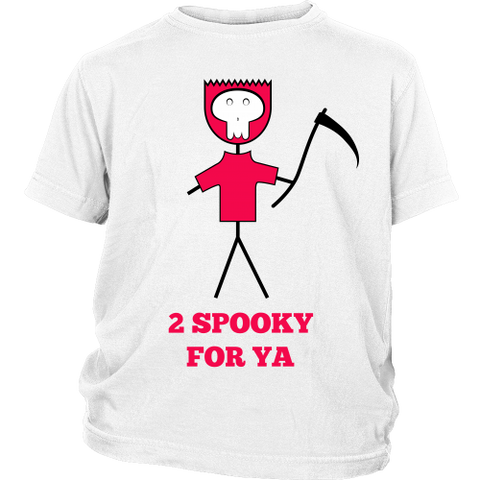Designs By Clayton - 2 Spooky for Ya Kid's T-shirt