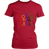 Rainbow People Woman's Tee