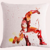 Watercolor Superhero Pillow Cover