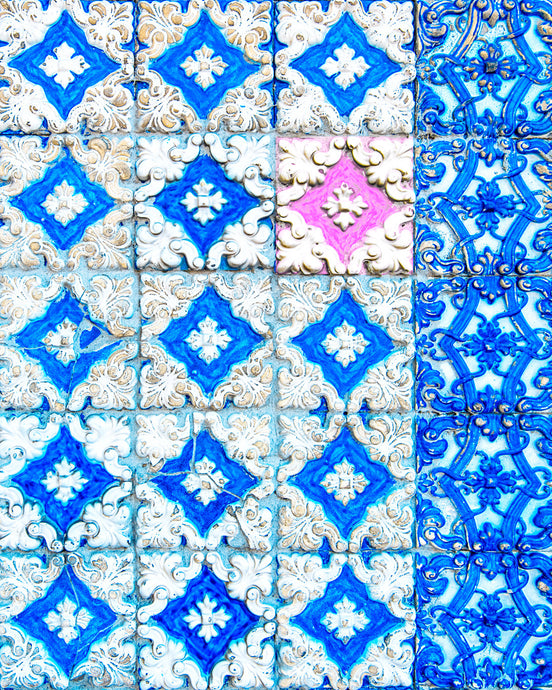 Pink and Blue Tiles