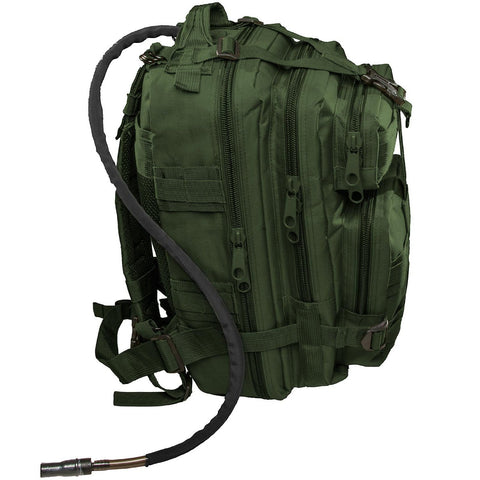 Small Tactical Bug Out Bag Backpack -2.5 Liter Hydration Water Bladder System Included by Monkey Paks™