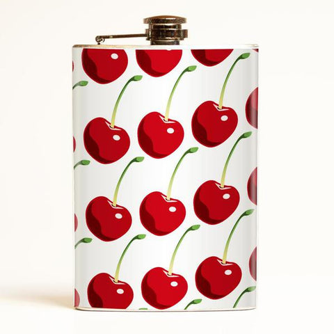 Retro Cherries Flask