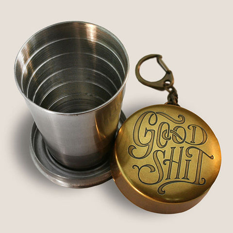 """Good Shit"" Portable Shot Glass"