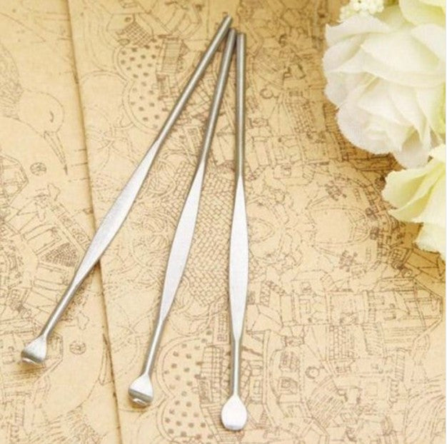 4 Pcs Stainless Ear Pick Wax