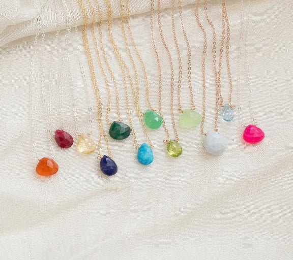 Birthstone Floating Necklace