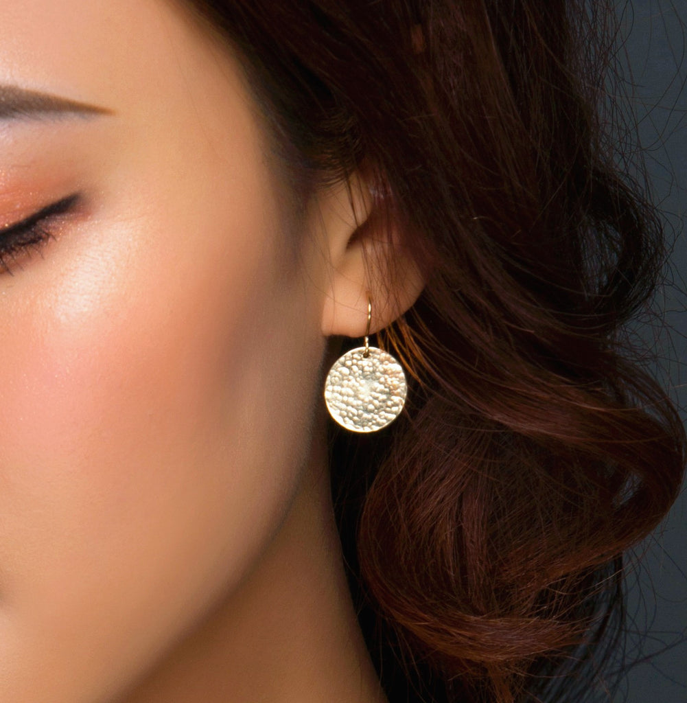 Circle Disc Earrings