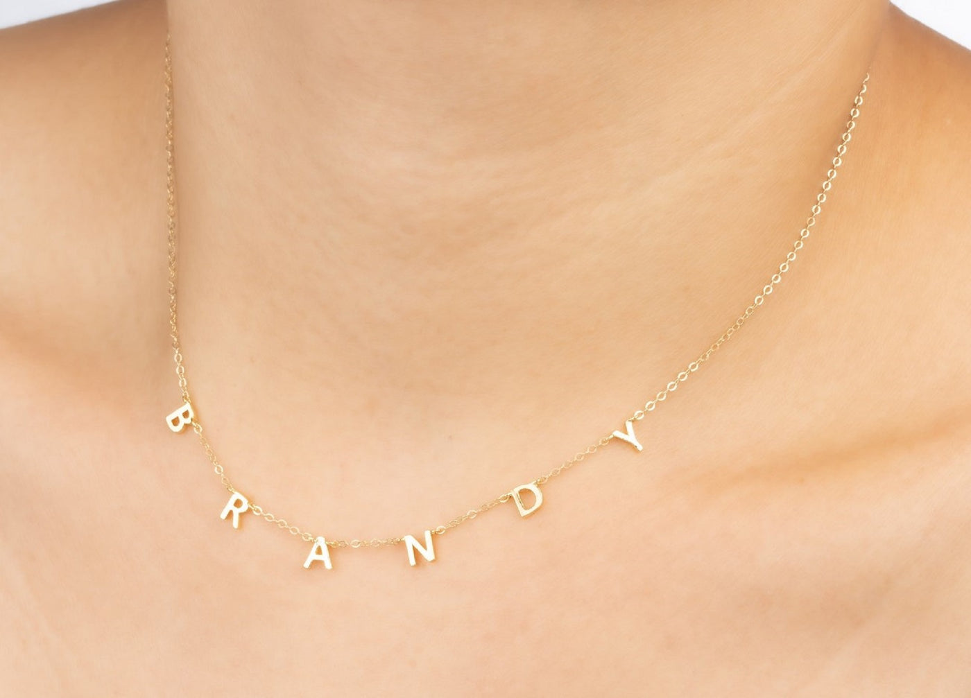 Multiple Letter Pendant Necklace