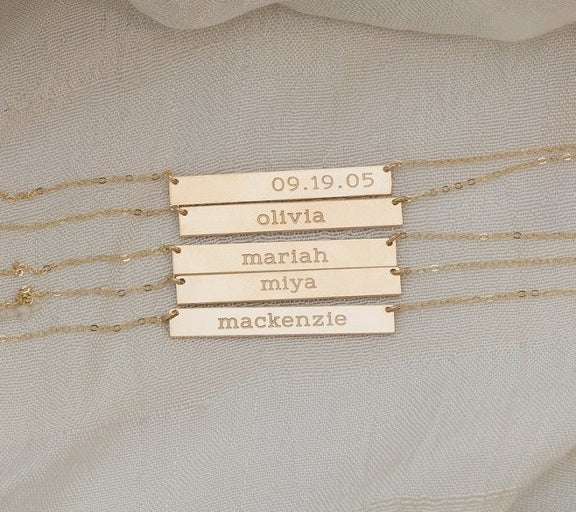 Long Personalized Nameplate Necklace