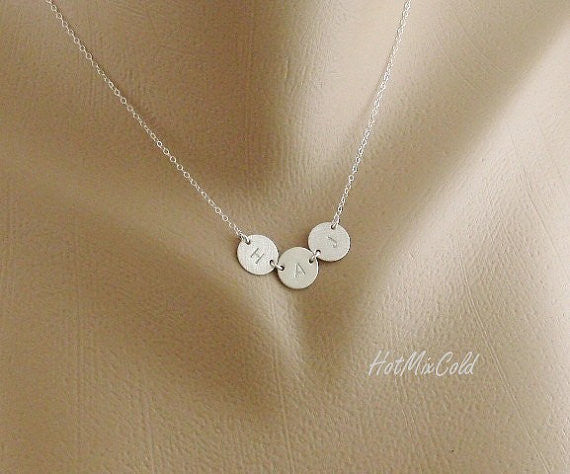 Silver 3 Discs Necklace
