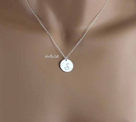 Silver XL Disc Necklace