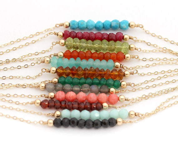 Gemstone Bar Bracelet