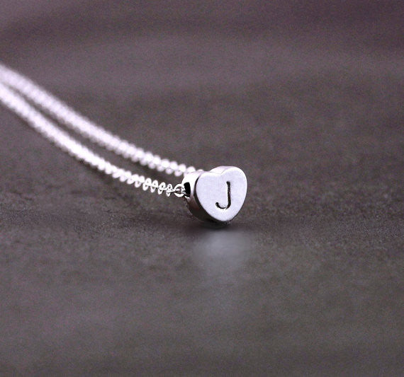 Silver Heart Bead Necklace