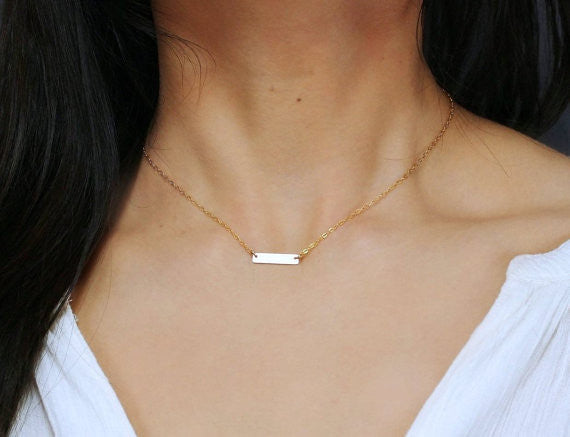Mini Skinny Bar Necklace