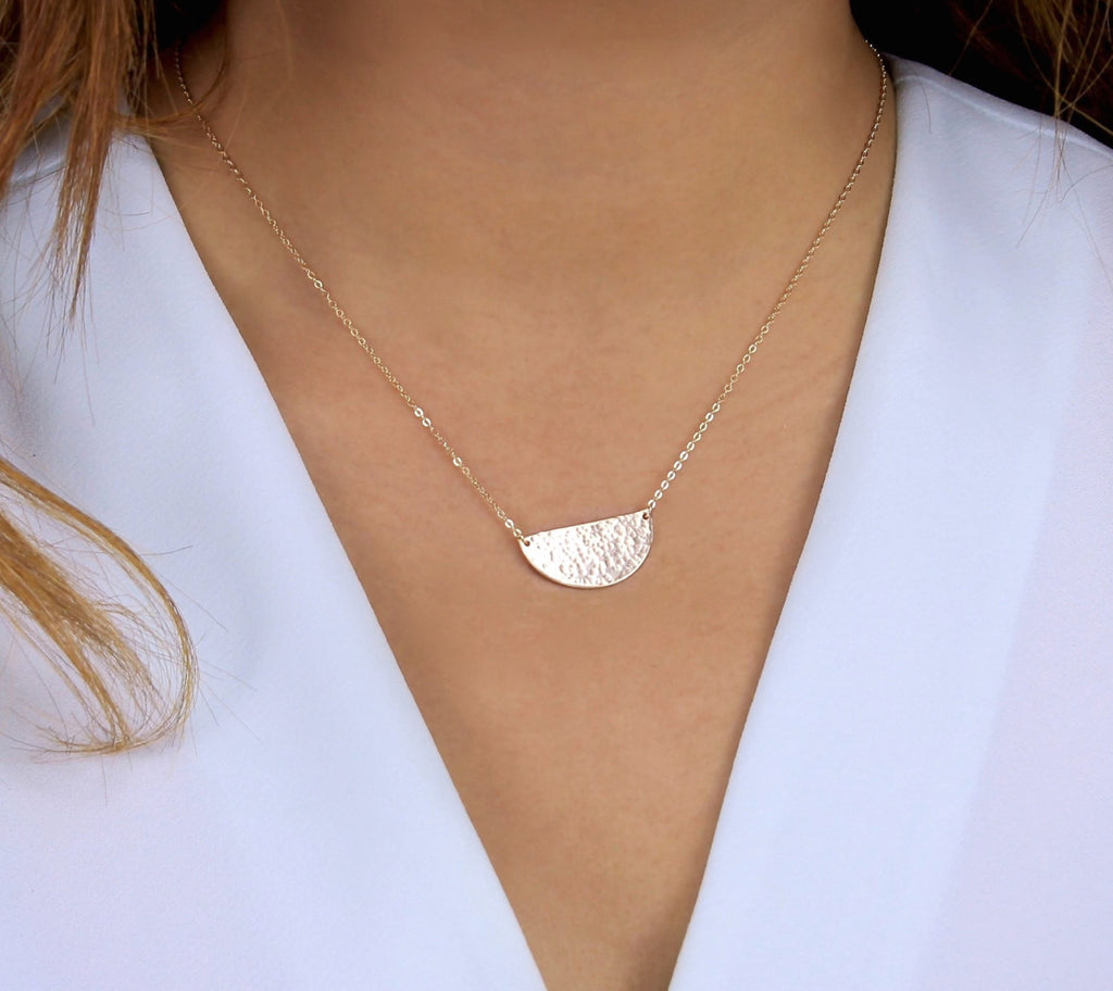 Gold Half Moon Necklace