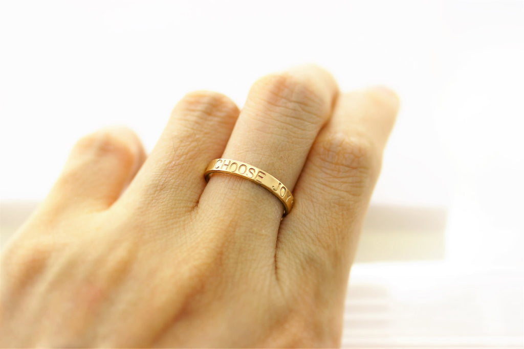 Personalized Thin Bar Ring