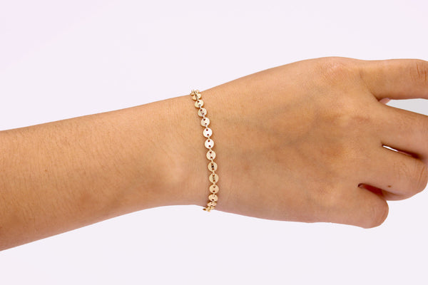 Gold Coin Tattoo Bracelet