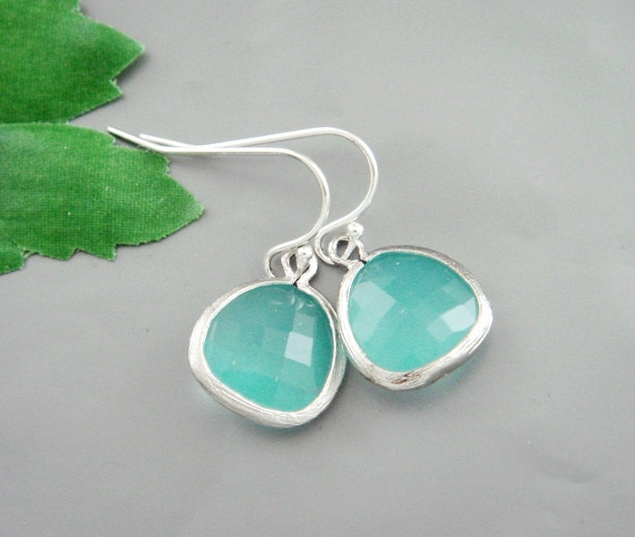 Silver Bezel Earrings