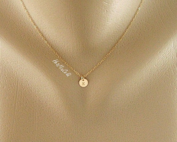 Gold Tiny Charm Necklace