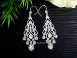 Crystal Drop Filigree Chandelier Earrings