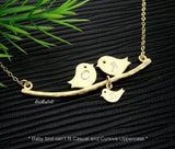 Gold Parent Birds Necklace