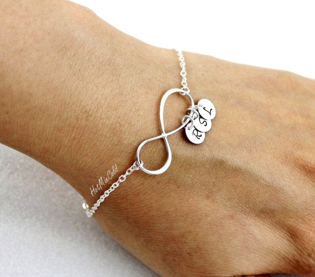 Personalized Infinity Bracelet and Initial